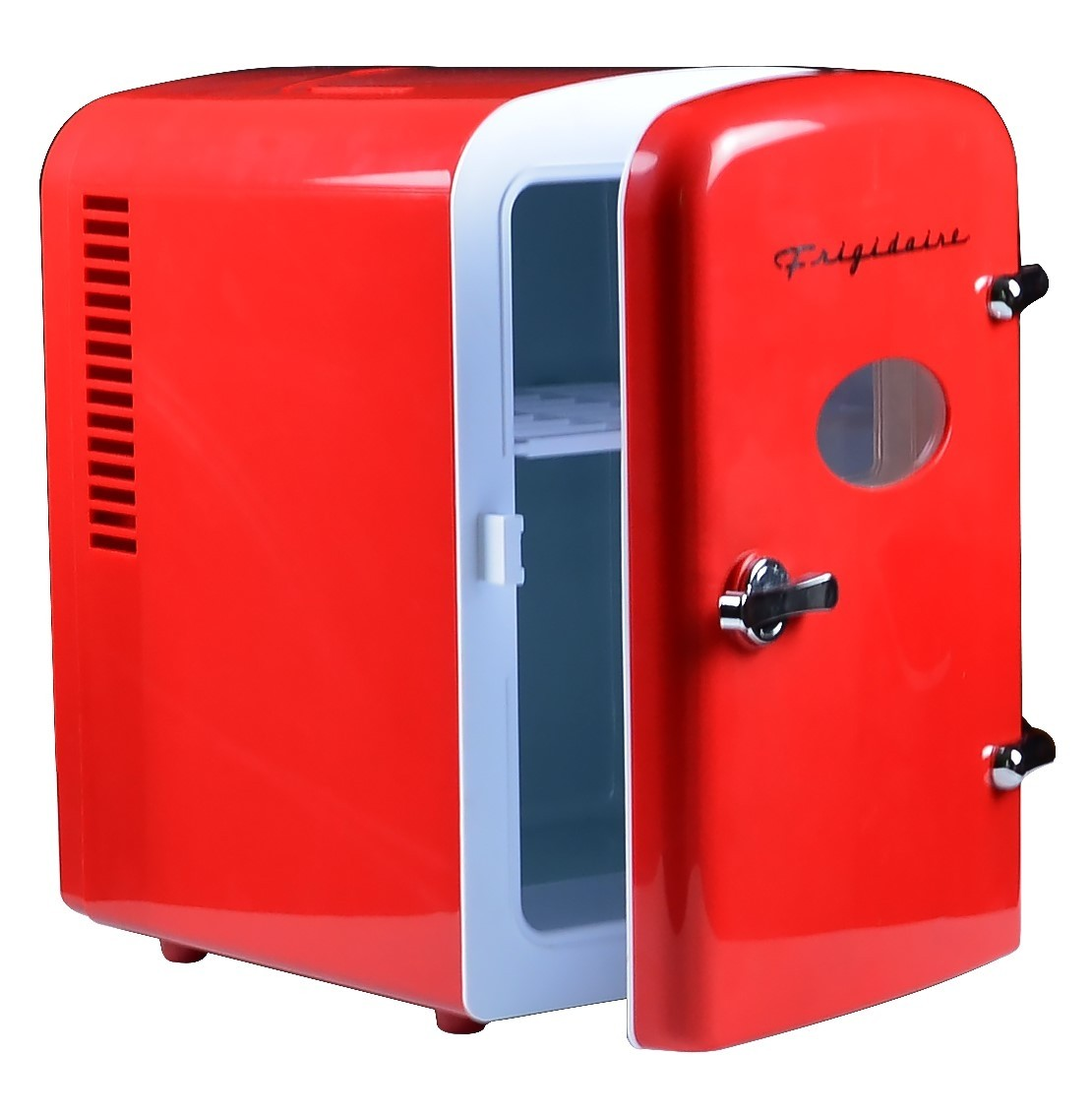 Includes Plugs for Home Outlet /& 12V Car Charger-Red Frigidaire EFMIS129 Mini Portable Compact Personal Fridge Cools /& Heats 4 Liter Capacity Chills Six 12 oz Cans Renewed 100/% Freon-Free /& Eco Friendly