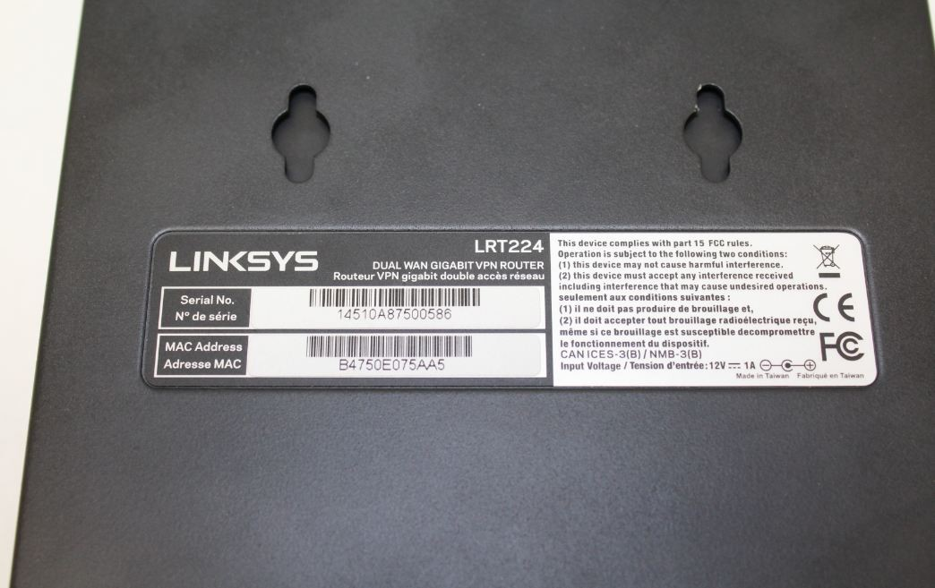 Linksys LRT224 Gigabit VPN Router