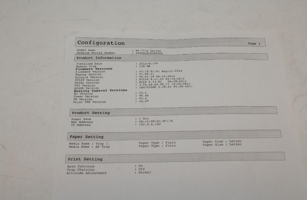 Samsung ML-3712ND Mono Laser Printer - PRINTERS