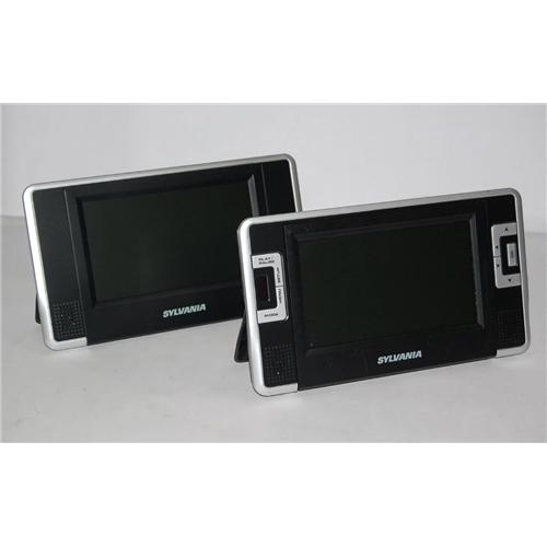 7'' Dual Screen USB SD Remote Bat - Blac