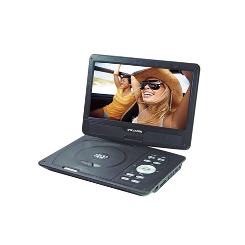 10'' DVD SD USB Swivel Remote Bat - Blac