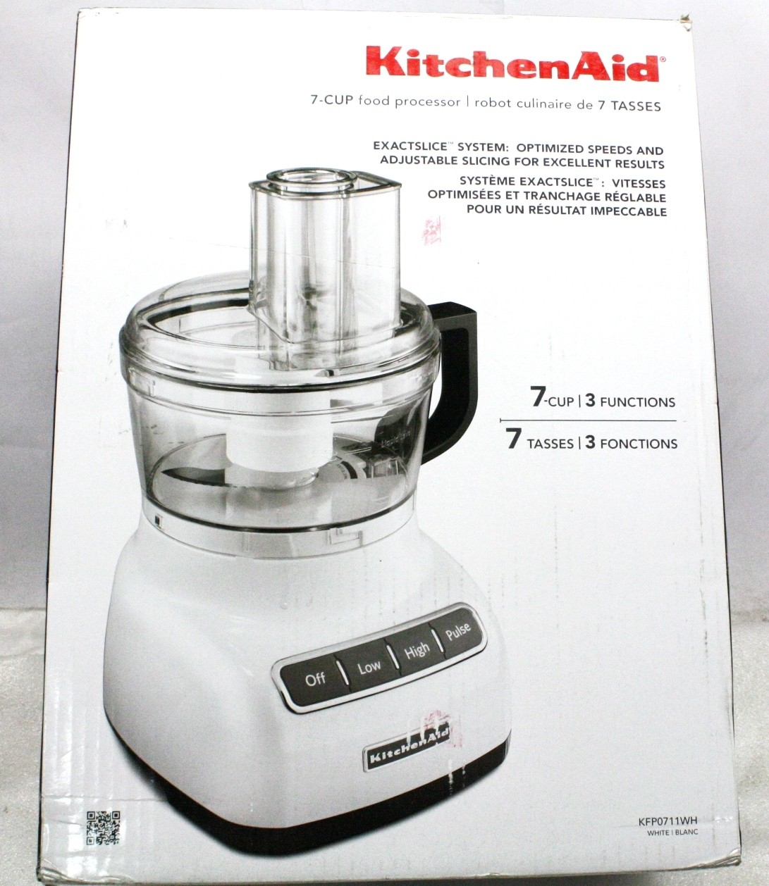 KitchenAid 7-Cup Food Processor Contour Silver-Used
