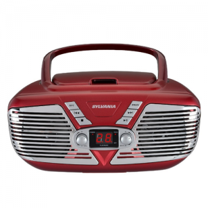 Sylvania SRCD211-RED Portable CD Boombox
