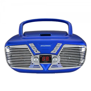 Sylvania SRCD211-BLUE Portable CD Boom