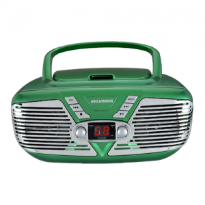 Sylvania SRCD211-GREEN Portable CD Boom
