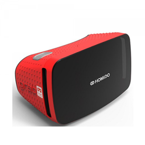 Homido Grab Virtual Reality Headset Red