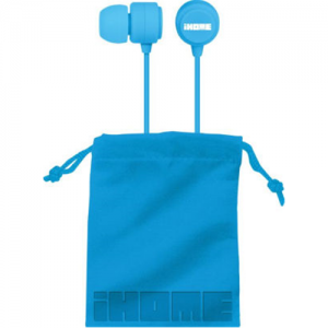 iHome In-Ear Earphones-Blue